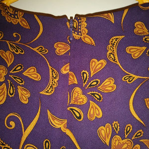 Talbots Dresses - Vintage Talbots 100% Pure Silk Purple & Gold Dress